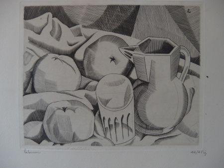 Etching Laboureur - Les trois pommes