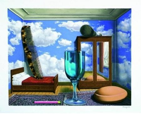 Lithograph Magritte - Les valeurs personnelles, 1952