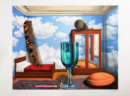 Lithograph Magritte - Les Valeurs Personnelles (Personal Values)