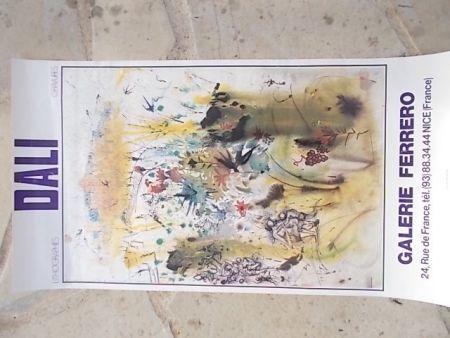 Poster Dali - Les vendanges