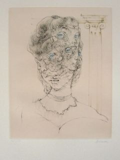 Etching And Aquatint Bellmer - Les Yeux Bleus