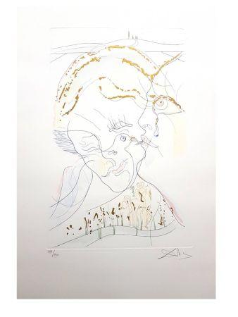 Lithograph Dali - Les Yeux de Colombe de l'épouse