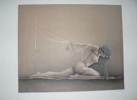 Lithograph Cleren - L'esclave