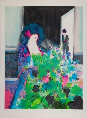 Lithograph Manoukian - L'Espagnole / The Spanish Woman