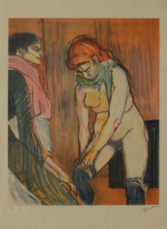 Lithograph Toulouse-Lautrec - L'Essayage des bas II