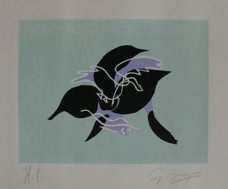 Lithograph Braque - L`essor I