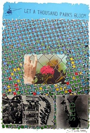 Lithograph Tilson - Let a thousand parks bloom