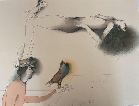 Lithograph Bruni - Lettera d´amore