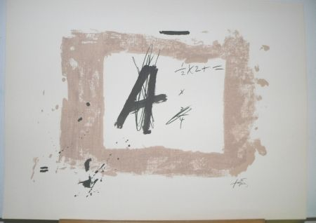 Lithograph Tàpies - Lettre  A