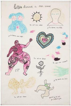 Multiple De Saint Phalle - Lettre d'amour à mon amour