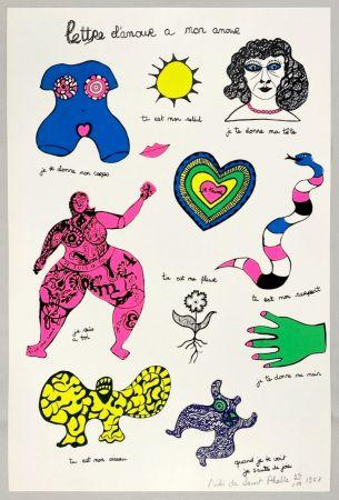 Screenprint De Saint Phalle - Lettre d'amour à mon amour