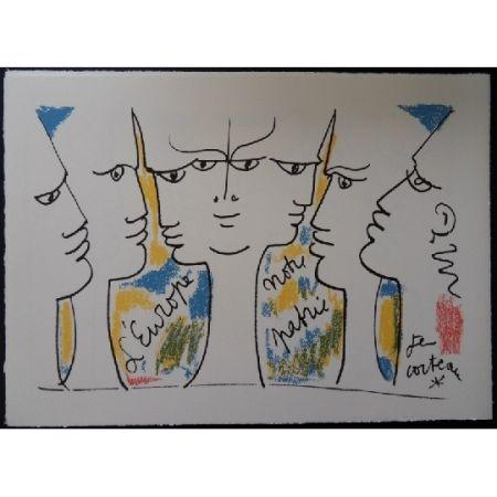 Lithograph Cocteau - L'Europe notre patrie