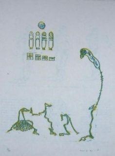Lithograph Ernst - Lewis Carroll's Wunderhorn 11