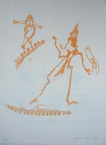 Lithograph Ernst - Lewis Carroll's Wunderland 15