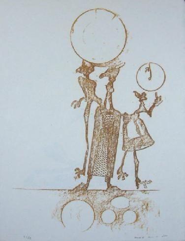 Lithograph Ernst - Lewis Carrol's Wunderhorn 18