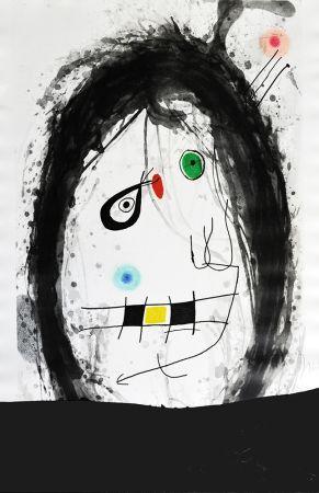 Etching Miró - L´exilé noir