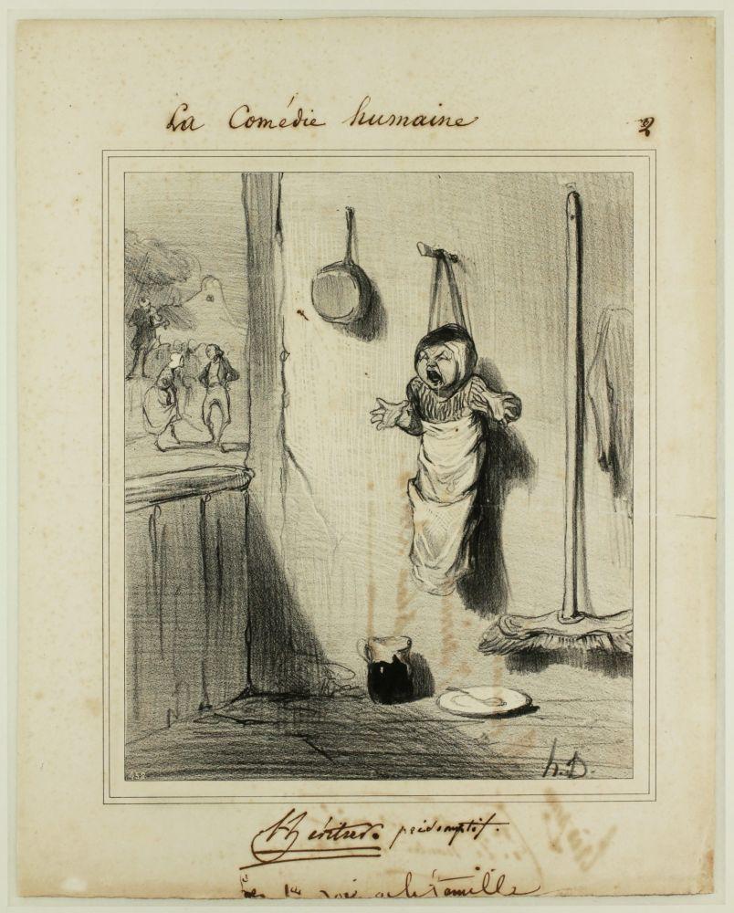 Lithograph Daumier - L'Héritier présomptif