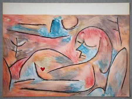 Lithograph Klee - L'hiver