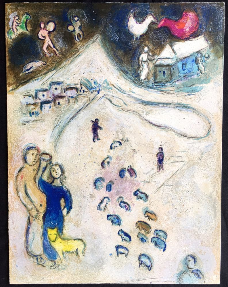 Lithograph Chagall - L'Hiver (Winter from Daphnis & Chloé. 1961)