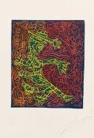 Lithograph Combas - L'homme