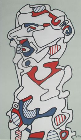 Lithograph Dubuffet - L'Homme