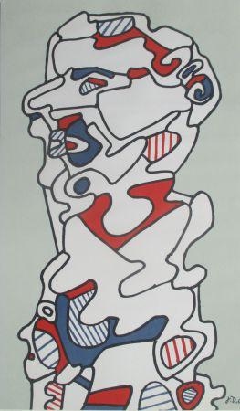 Lithograph Dubuffet - L'Homme