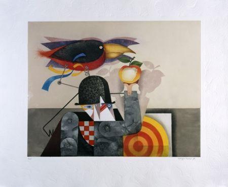 Aquatint Marin - L'homme-oiseau