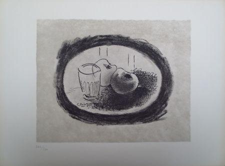 Lithograph Braque - L'homme à l'écharpe