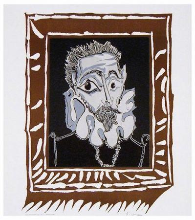 Lithograph Picasso - L'Homme à la Fraise (Man with Ruff)