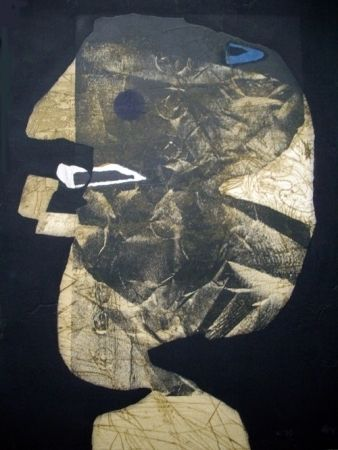 Etching And Aquatint Clavé - L'homme À La Pipe
