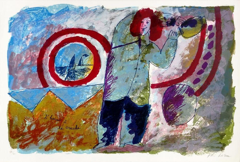 Lithograph Tobiasse - L'HOMME A LA CRUCHE