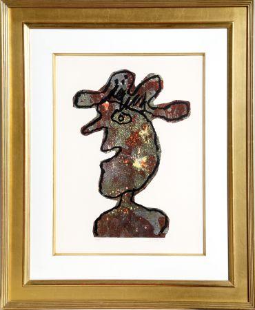 Lithograph Dubuffet - L'Homme au Chapeau