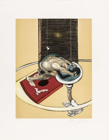Etching And Aquatint Bacon - L'homme au lavabo
