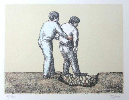 Lithograph Topor - L'Homme Déraciné