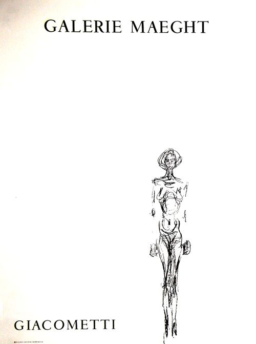 Lithograph Giacometti - L'Homme Debout