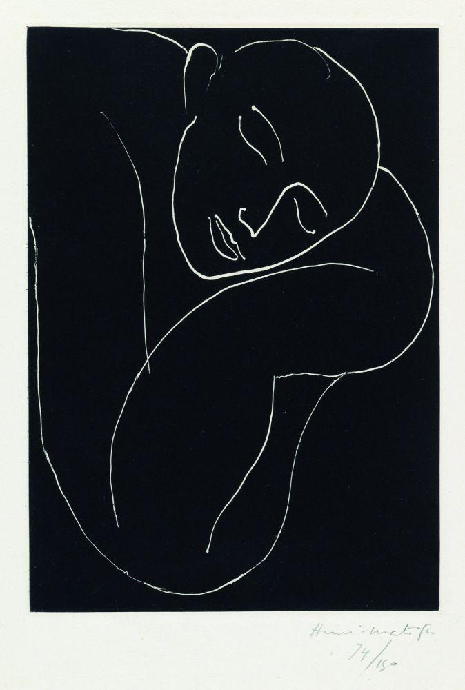 Aquatint Matisse - L'Homme endormie
