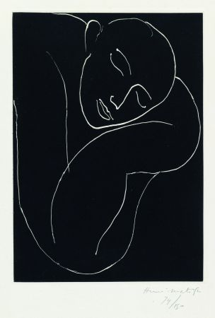 Aquatint Matisse - L'Homme endormie