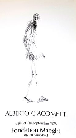 Offset Giacometti - L'Homme qui Marche  Fondation Maeght