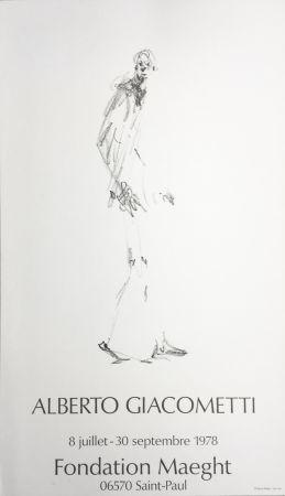 Poster Giacometti - L'HOMME QUI MARCHE. Fondation Maeght du 8 juillet au 30 septembre 1978.