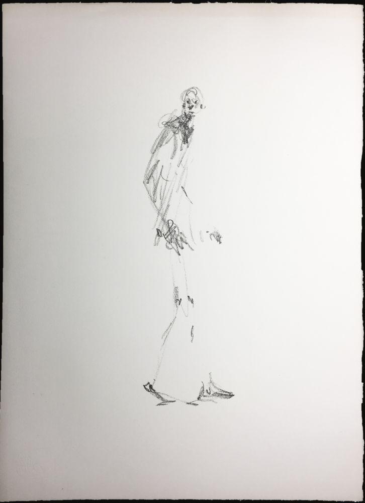 Lithograph Giacometti - L'HOMME QUI MARCHE. Lithographie pour