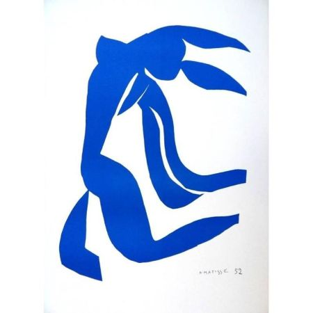 Lithograph Matisse - Liberté Bleu