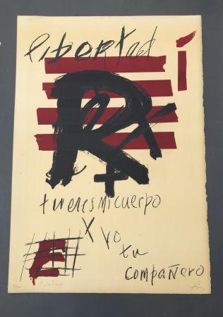 Lithograph Tàpies - Libertad