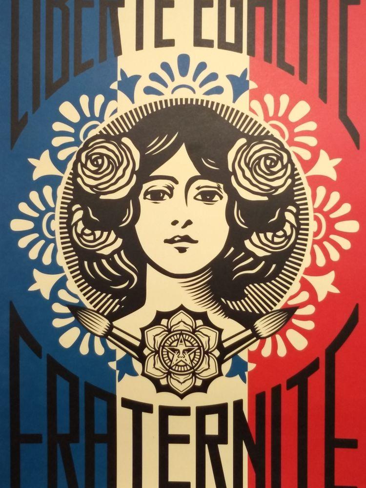 Lithograph Fairey - Liberte