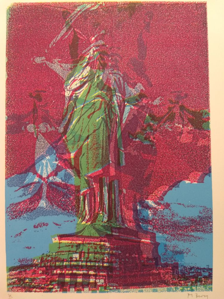 Lithograph Bury - Liberty