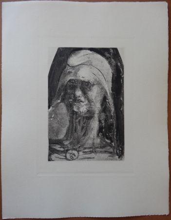 Engraving Rodin - Liberty