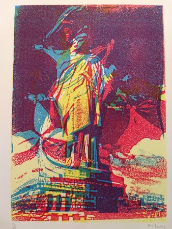 Lithograph Bury - Liberty