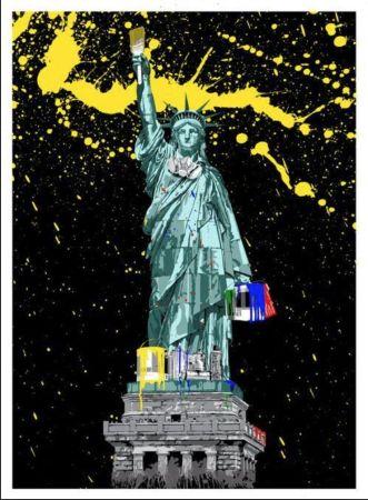 Screenprint Mr. Brainwash - Liberty