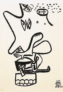 Engraving Le Corbusier - Libro UNITÉ