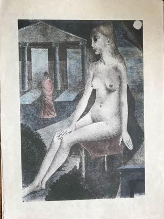Screenprint Delvaux - L'Idole