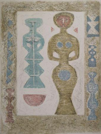 Lithograph Campigli - L'Idole
